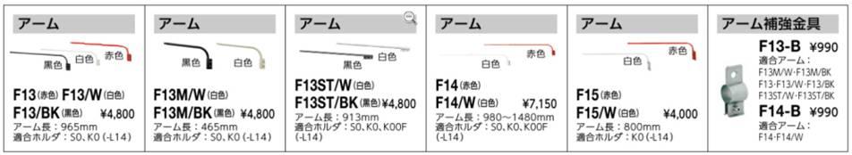 岩崎電気製アーム説明図