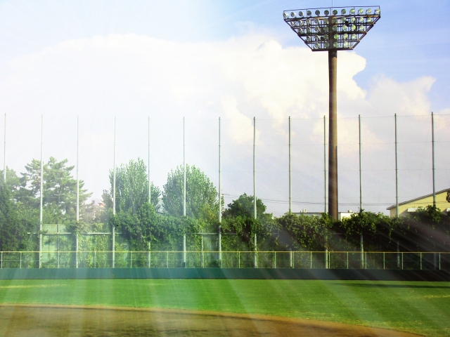 屋外野球練習場写真
