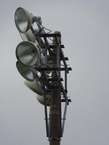 水銀灯 架台設置投光器