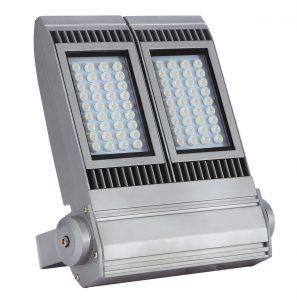 S390-120W 140W投光器 シルバー 前面写真