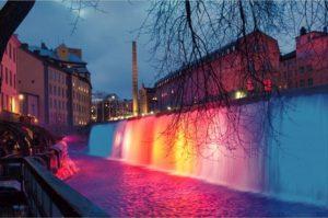 水中照明 滝用