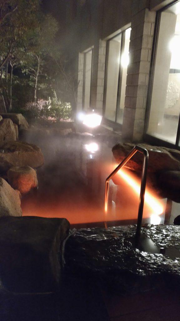 水中テープライト 温泉使用事例2