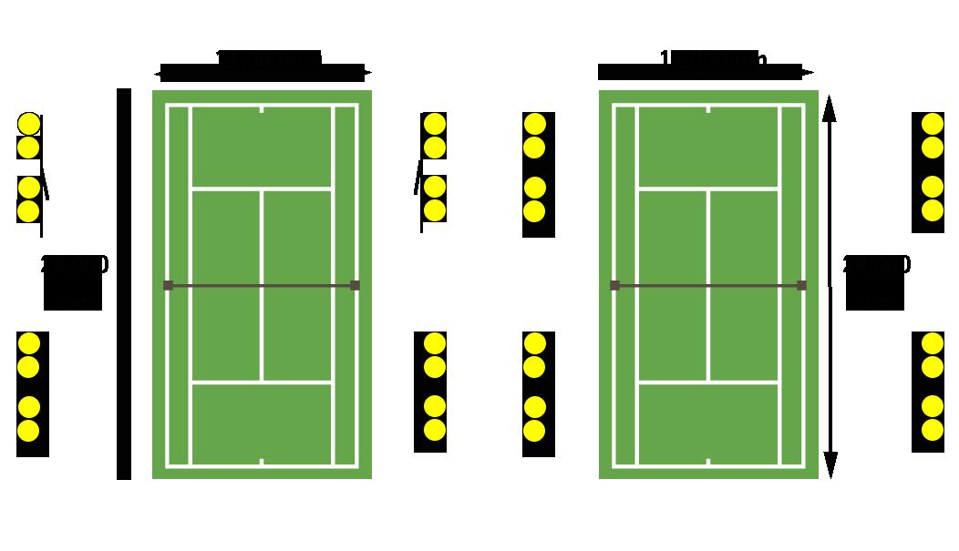 テニスコート照明-器具配置