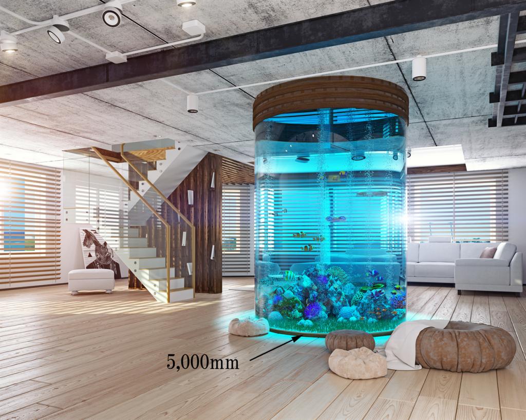 住宅の水槽