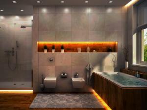 水中用ledテープライトを浴室や浴槽に設置する
