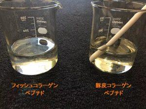 魚コラーゲンペプチドに負けない優れた溶解性