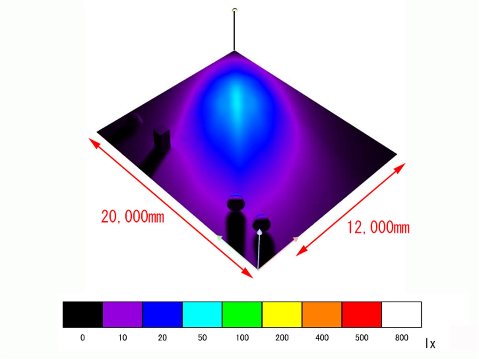 120W 配光設計画像