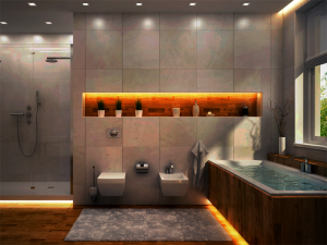 浴槽や浴室に設置するのにおすすめ!20万円以下で実現できるLED水中テープライトの演出例をご紹介