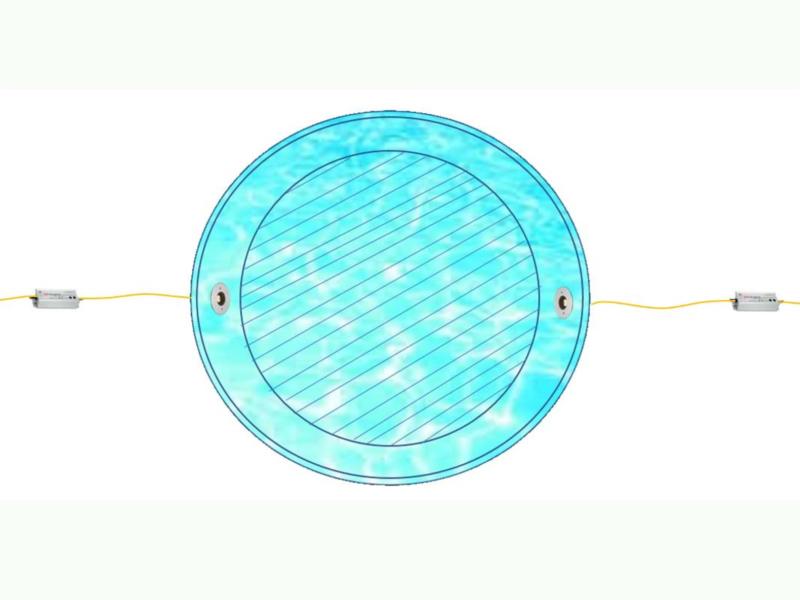 壁面埋込型水中照明の配線方法をご紹介