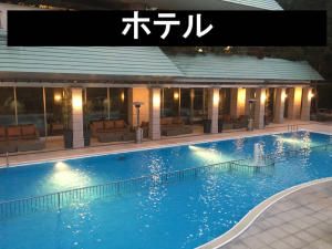 水中照明 テープライト 地中照明 写真 ホテル