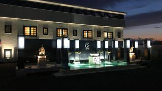 【水中照明】ホテルのエントランスにある水盤への導入事例