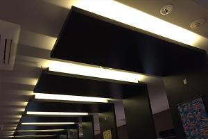 温泉 温浴 テープライト 間接照明