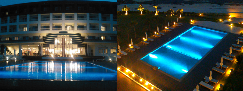 ホテルリゾートプール水中照明