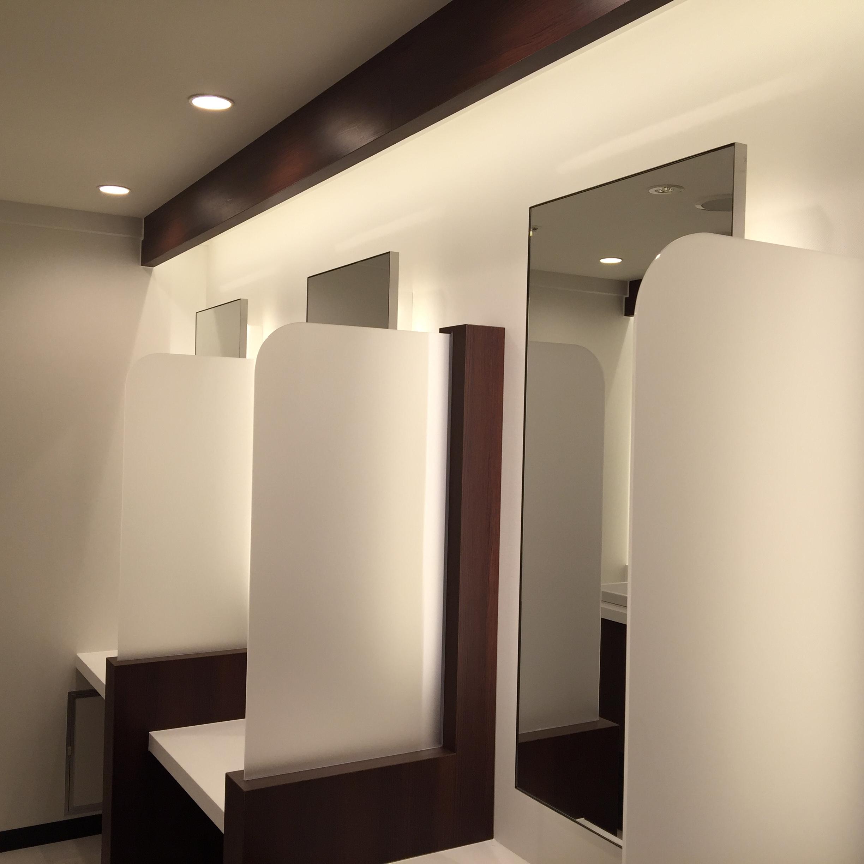施工事例:品川スキンクリニック化粧室