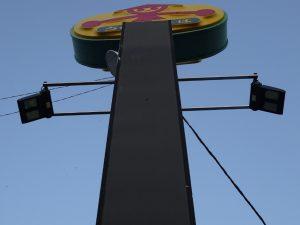 山田うどん栗橋店(S390-140下から見た設置写真)