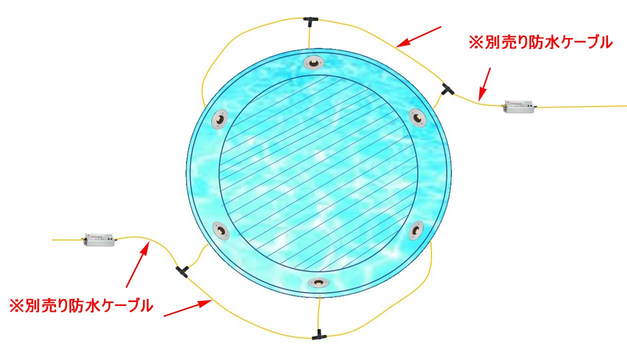 水盤丸形(6台2系統)
