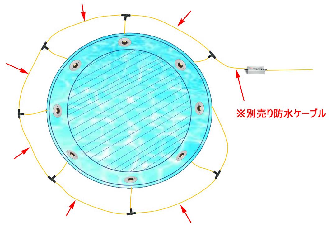 水盤丸形(8台1系統)