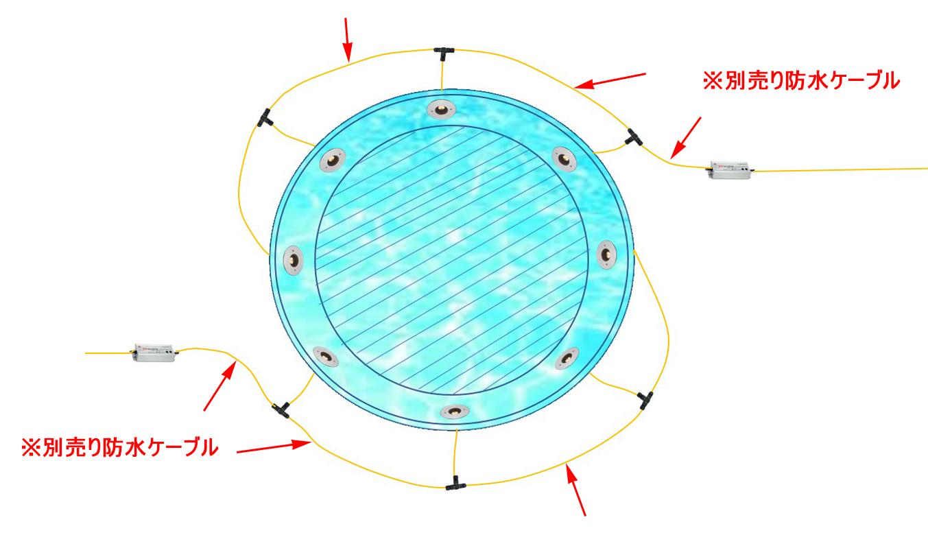 水盤丸形(8台2系統)