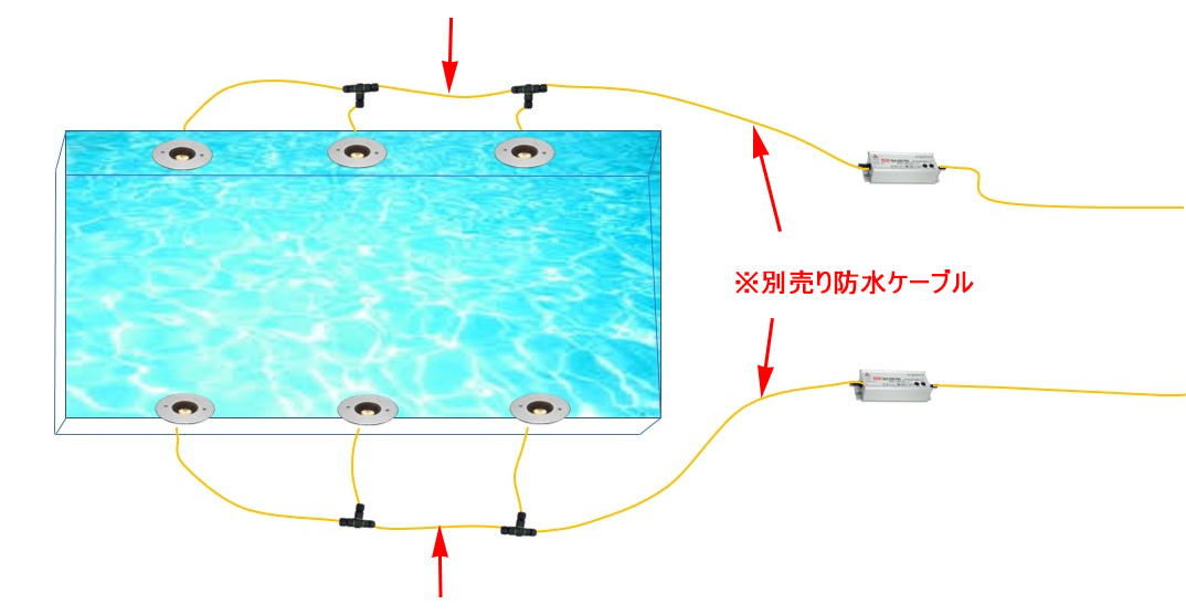 水盤(埋込6台2系統)