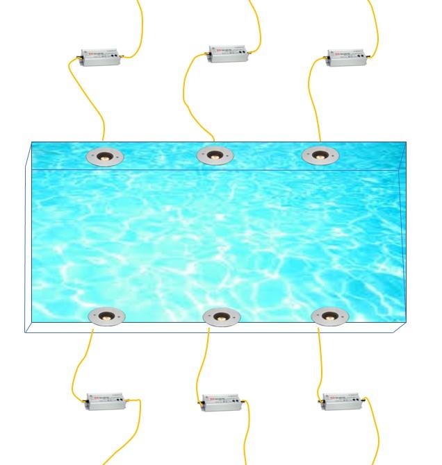 水盤(埋込6台6系統)