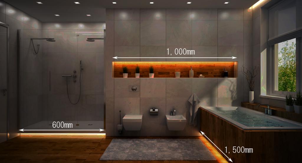 浴室におすすめの水中照明演出例