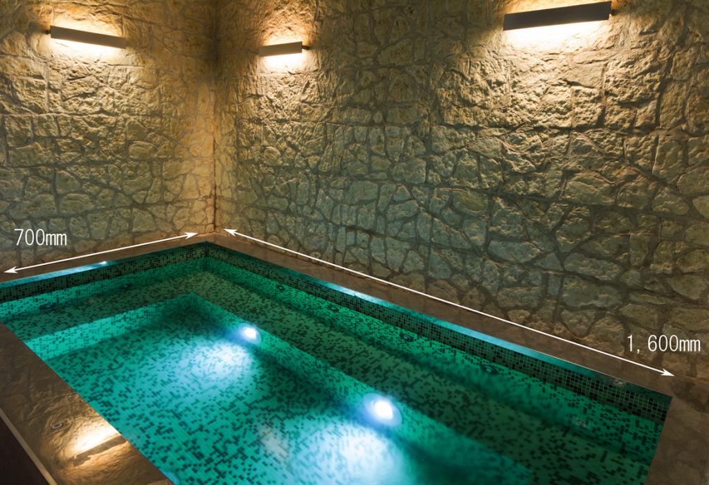 浴槽におすすめの水中照明演出例