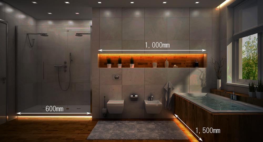 【浴室におすすめ!富士メディシィエの水中テープライト】