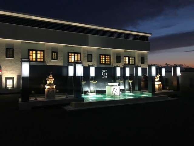 ホテル 水盤 18W置き型水中照明