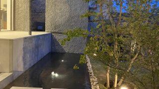 高級個人住宅の屋外水盤